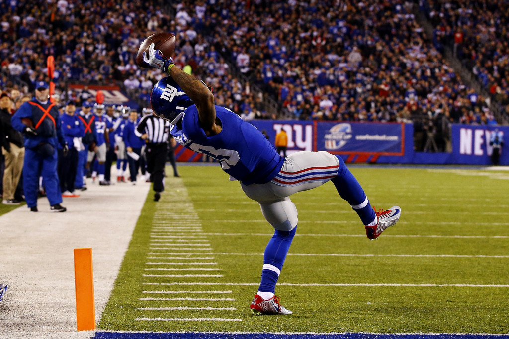 This catch put Odell Beckham in the national spotlight, but shouldn't define his career up to this point (Al Bello/Getty Images).