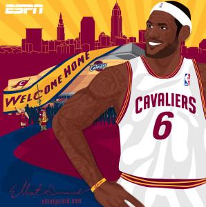 Elliot Gerard LeBron James Cleveland Cavaliers