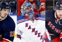 New York Rangers Chris Kreider Henrik Lundqvist Rick Nash