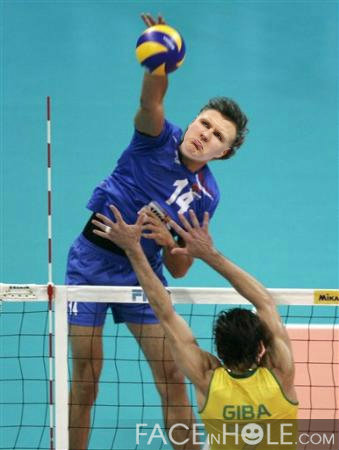 Kristaps Porzingis volleyball