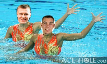 Willy Hernangomez Kristaps Porzingis synchronized swimming