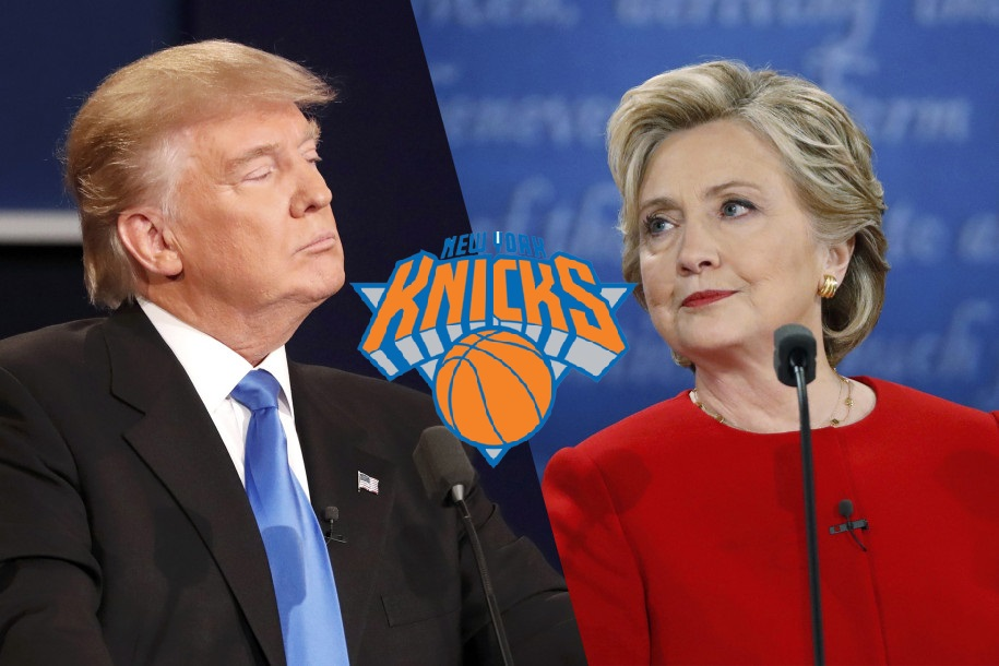 Donald Trump Hillary Clinton New York Knicks